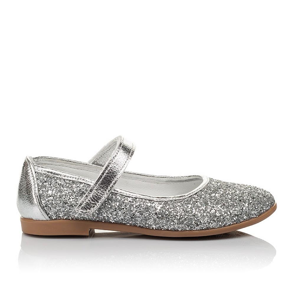 Детские туфлі Woopy Orthopedic срібні для девочек  размер 31-37 (3717) Фото 4