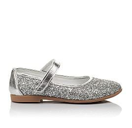 Детские туфли Woopy Orthopedic серебряные для девочек современный искусственный материал размер 34-35 (3717) Фото 4
