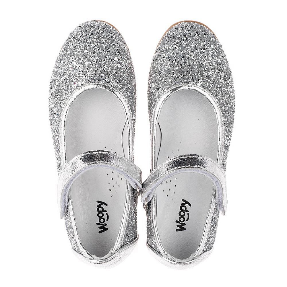 Детские туфлі Woopy Orthopedic срібні для девочек  размер 31-37 (3717) Фото 5