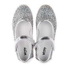 Детские туфли Woopy Orthopedic серебряные для девочек современный искусственный материал размер 34-35 (3717) Фото 5