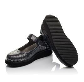 Детские туфли Woopy Orthopedic синие для девочек натуральный нубук с лазерной обработкой размер 32-32 (3720) Фото 2