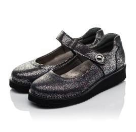 Детские туфли Woopy Orthopedic синие для девочек натуральный нубук с лазерной обработкой размер 32-32 (3720) Фото 3