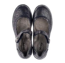 Детские туфли Woopy Orthopedic синие для девочек натуральный нубук с лазерной обработкой размер 32-32 (3720) Фото 5
