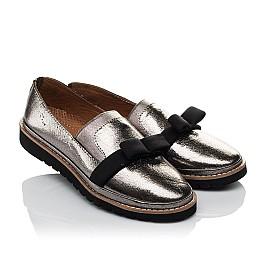 Детские туфли Woopy Orthopedic серые для девочек  натуральная кожа размер 32-40 (3721) Фото 1