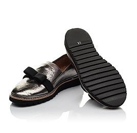 Детские туфли Woopy Orthopedic серые для девочек  натуральная кожа размер 32-40 (3721) Фото 2