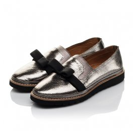 Детские туфли Woopy Orthopedic серые для девочек  натуральная кожа размер 32-40 (3721) Фото 3