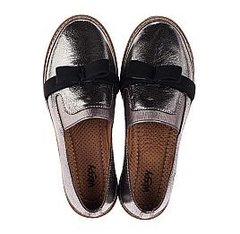Детские туфли Woopy Orthopedic серые для девочек  натуральная кожа размер 32-40 (3721) Фото 5