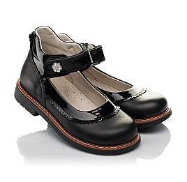 Детские туфли ортопедические Woopy Orthopedic черные для девочек  натуральная кожа размер 28-36 (3722) Фото 1