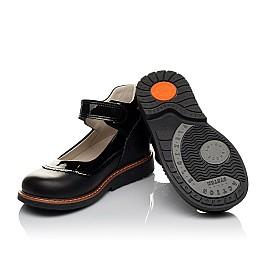 Детские туфли ортопедические Woopy Orthopedic черные для девочек  натуральная кожа размер 28-36 (3722) Фото 2