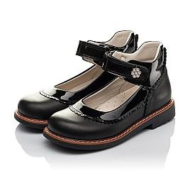 Детские туфли ортопедические Woopy Orthopedic черные для девочек  натуральная кожа размер 28-36 (3722) Фото 3
