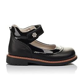 Детские туфли ортопедические Woopy Orthopedic черные для девочек  натуральная кожа размер 28-36 (3722) Фото 4