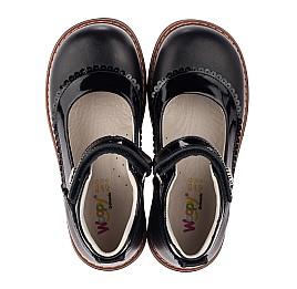 Детские туфли ортопедические Woopy Orthopedic черные для девочек  натуральная кожа размер 28-36 (3722) Фото 5