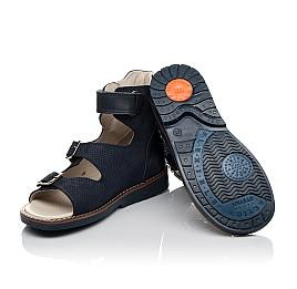 Детские ортопедичні босоніжки (з високим берцем) Woopy Orthopedic синий для мальчиков натуральный нубук и кожа размер 26-36 (3724) Фото 2