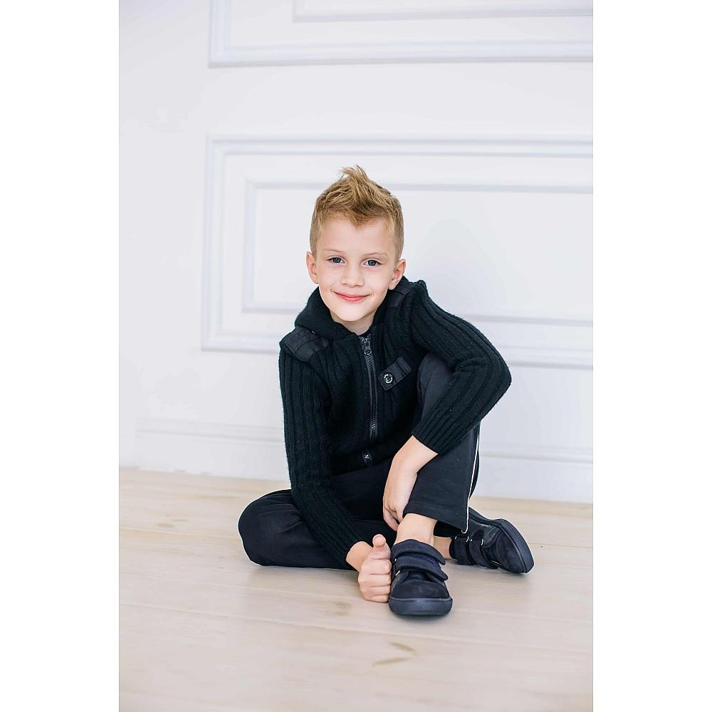 Детские кеды Woopy Orthopedic темно-синие для мальчиков натуральная кожа, нубук размер 26-34 (3725) Фото 6