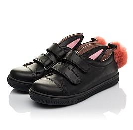 Детские кеды Woopy Orthopedic черные для девочек натуральная кожа размер 21-26 (3726) Фото 3