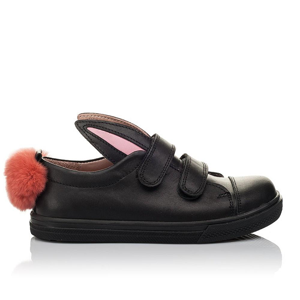 Детские кеды Woopy Orthopedic черные для девочек натуральная кожа размер 21-30 (3726) Фото 4