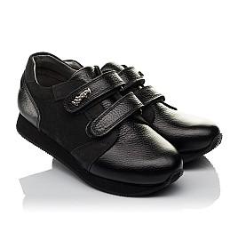 Детские кроссовки Woopy Orthopedic черные для девочек натуральная кожа, нубук размер 30-36 (3727) Фото 1