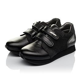 Детские кроссовки Woopy Orthopedic черные для девочек натуральная кожа, нубук размер 30-36 (3727) Фото 3