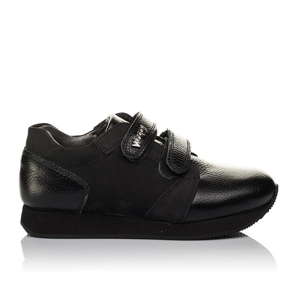 Детские кроссовки Woopy Orthopedic черные для девочек натуральная кожа, нубук размер 30-36 (3727) Фото 4