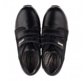Детские кроссовки Woopy Orthopedic черные для девочек натуральная кожа, нубук размер 30-36 (3727) Фото 5