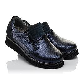 Детские туфли Woopy Orthopedic синие для девочек натуральная кожа размер 31-38 (3728) Фото 1