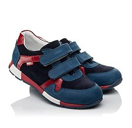 Детские кроссовки Woopy Orthopedic синие для мальчиков натуральный нубук размер 33-33 (3730) Фото 1