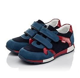 Детские кроссовки Woopy Orthopedic синие для мальчиков натуральный нубук размер 33-33 (3730) Фото 3