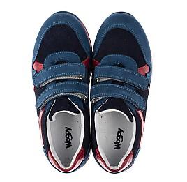 Детские кроссовки Woopy Orthopedic синие для мальчиков натуральный нубук размер 33-33 (3730) Фото 5