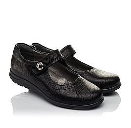 Детские туфли Woopy Orthopedic черные для девочек натуральная кожа размер 31-36 (3731) Фото 1