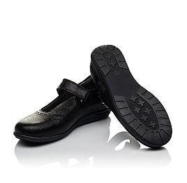 Детские туфли Woopy Orthopedic черные для девочек натуральная кожа размер 31-36 (3731) Фото 2
