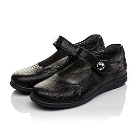 Детские туфли Woopy Orthopedic черные для девочек натуральная кожа размер 31-36 (3731) Фото 3