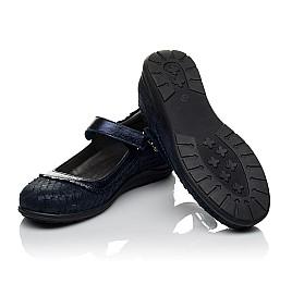 Детские туфли Woopy Orthopedic темно-синие для девочек натуральный нубук с лазерной обработкой размер 31-36 (3733) Фото 2