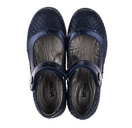 Детские туфли Woopy Orthopedic темно-синие для девочек натуральный нубук с лазерной обработкой размер 31-36 (3733) Фото 5