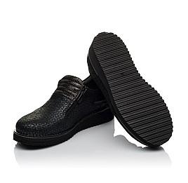 Детские туфли Woopy Orthopedic черные для девочек натуральный нубук с лазерной обработкой размер 30-38 (3734) Фото 2