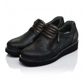 Детские туфли Woopy Orthopedic черные для девочек натуральный нубук с лазерной обработкой размер 30-38 (3734) Фото 3