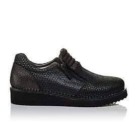 Детские туфли Woopy Orthopedic черные для девочек натуральный нубук с лазерной обработкой размер 30-38 (3734) Фото 4