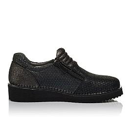 Детские туфли Woopy Orthopedic черные для девочек натуральный нубук с лазерной обработкой размер 30-38 (3734) Фото 5