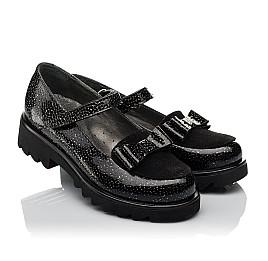 Детские туфли Woopy Orthopedic черные для девочек натуральная лаковая кожа размер 32-38 (3736) Фото 1