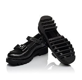 Детские туфли Woopy Orthopedic черные для девочек натуральная лаковая кожа размер 32-38 (3736) Фото 2
