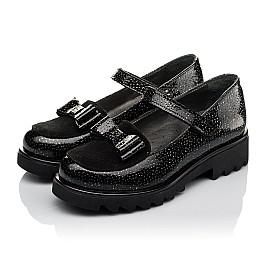 Детские туфли Woopy Orthopedic черные для девочек натуральная лаковая кожа размер 32-38 (3736) Фото 3