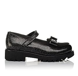 Детские туфли Woopy Orthopedic черные для девочек натуральная лаковая кожа размер 32-38 (3736) Фото 4