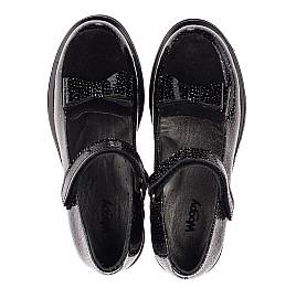 Детские туфли Woopy Orthopedic черные для девочек натуральная лаковая кожа размер 32-38 (3736) Фото 5