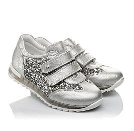 Детские кроссовки Woopy Orthopedic серебряные для девочек натуральная кожа размер 33-33 (3737) Фото 1