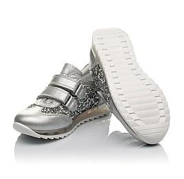 Детские кроссовки Woopy Orthopedic серебряные для девочек натуральная кожа размер 33-33 (3737) Фото 2