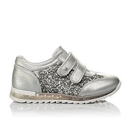 Детские кроссовки Woopy Orthopedic серебряные для девочек натуральная кожа размер 33-33 (3737) Фото 4