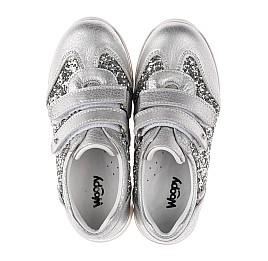 Детские кроссовки Woopy Orthopedic серебряные для девочек натуральная кожа размер 33-33 (3737) Фото 5