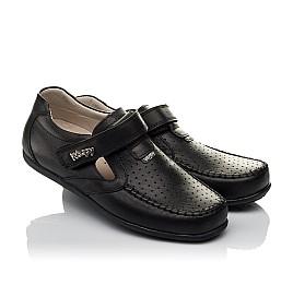 Детские туфли Woopy Orthopedic черные для мальчиков натуральная кожа размер 26-37 (3738) Фото 1