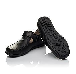 Детские туфли Woopy Orthopedic черные для мальчиков натуральная кожа размер 26-37 (3738) Фото 2