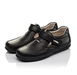 Детские туфли Woopy Orthopedic черные для мальчиков натуральная кожа размер 26-37 (3738) Фото 3
