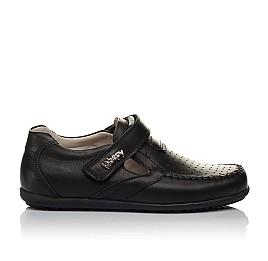 Детские туфли Woopy Orthopedic черные для мальчиков натуральная кожа размер 26-37 (3738) Фото 4